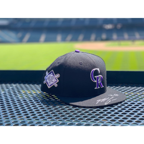 "Photo of Colorado Rockies Foundation: Nolan Arenado Team-Issued Autographed ""42 Jackie Robinson"" Cap (Autograph NOT MLB Authenticated - COA included)"