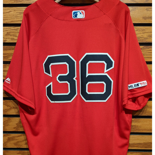 Photo of Eduardo Nunez #36 Team Issued Red Home Alternate Jersey