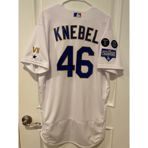 Photo of Corey Knebel Special-Edition Home Opening Weekend Gold-Outlined Game-Used Jersey