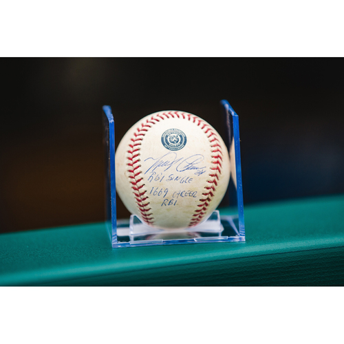 Cabrera Exclusive! Autographed Game-Used Baseball: Miguel Cabrera Career RBI #1669 (MLB AUTHENTICATED)