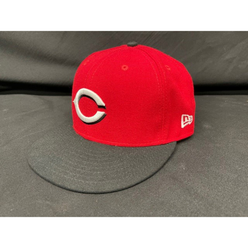 Photo of Sean Doolittle -- Game-Used Cap -- Worn During Wade Miley No-Hitter on May 7, 2021 - Reds @ Indians -- Size 7 5/8