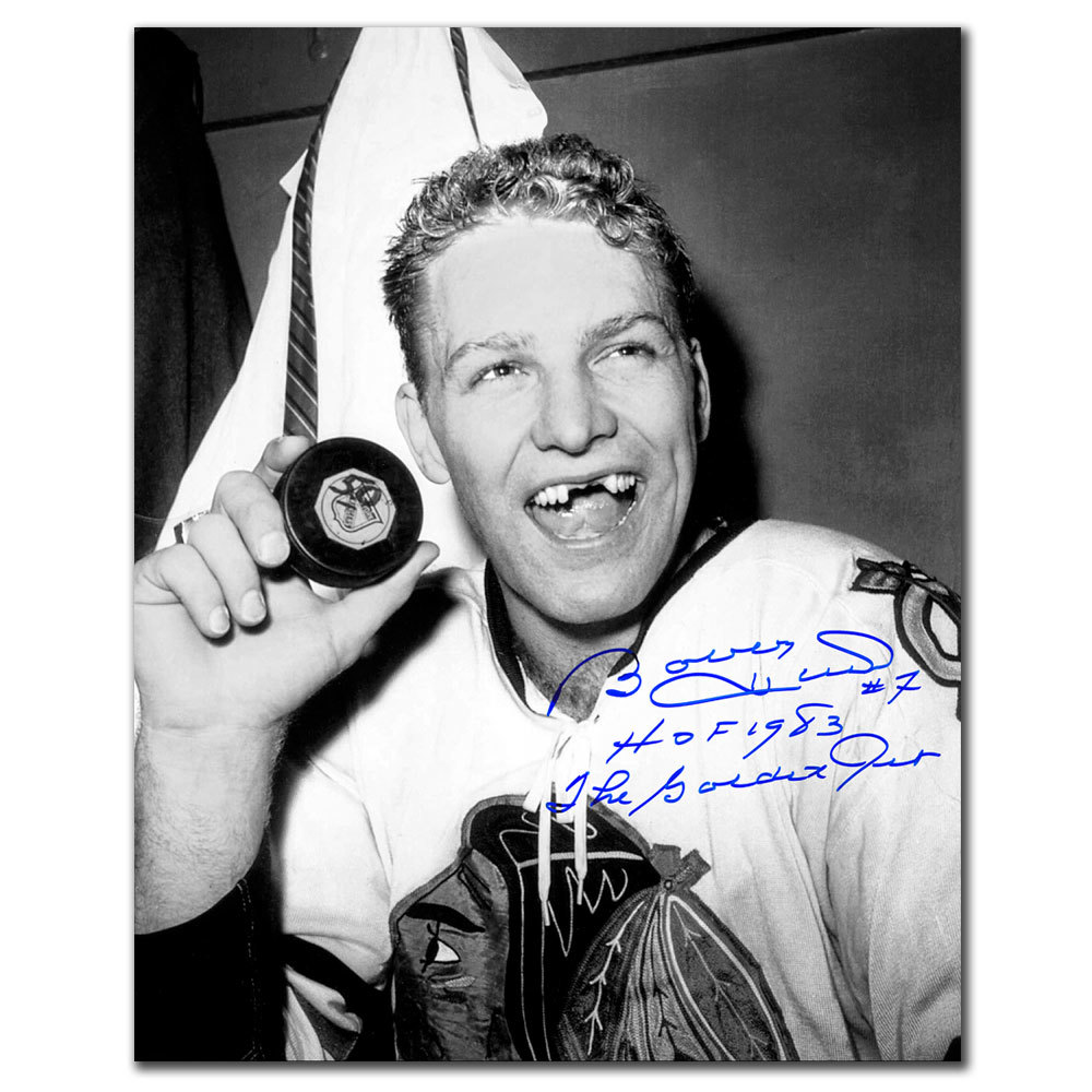 Bobby Hull Chicago Blackhawks 50TH GOAL Autographed 16X20