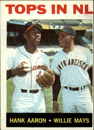 Photo of 1964 Topps #423 Tops in NL/Hank Aaron/Willie Mays