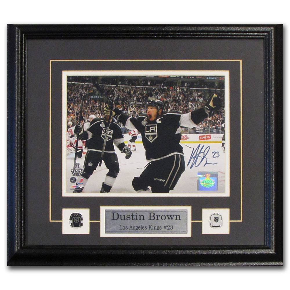 Dustin Brown Autographed Los Angeles Kings Framed 8X10 Photo