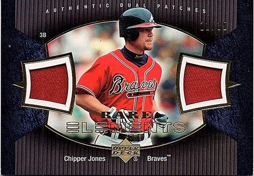 Photo of 2007 Upper Deck Elements Rare Elements #CJ Chipper Jones Jersey PATCH 11/35