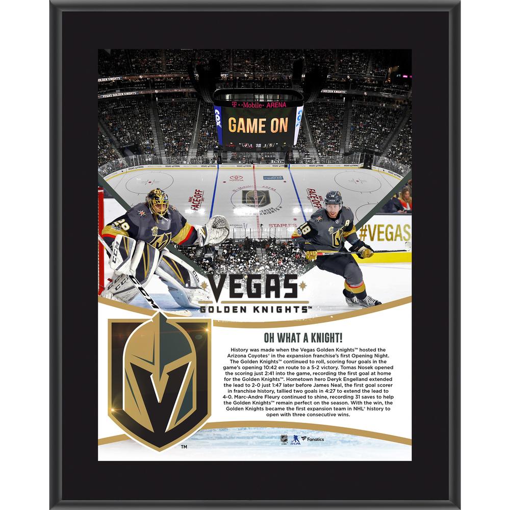 Vegas Golden Knights Framed 10.5