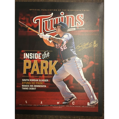 Photo of Byung Ho Park Autographed Poster