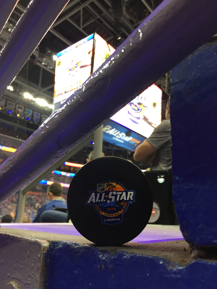 2018 NHL All-Star Game Warm-Up Used Puck