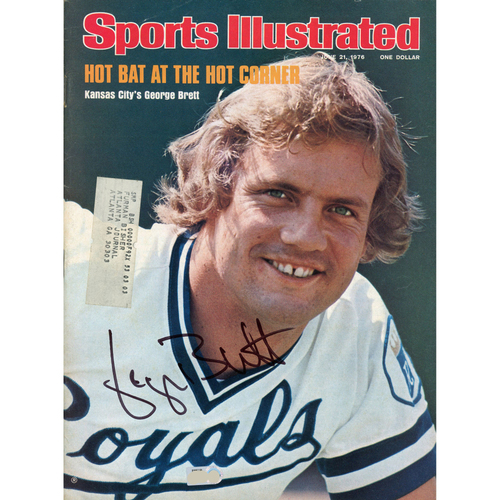 Photo of George Brett Kansas City Royals Autographed June 21, 1976 Sports Illustrated