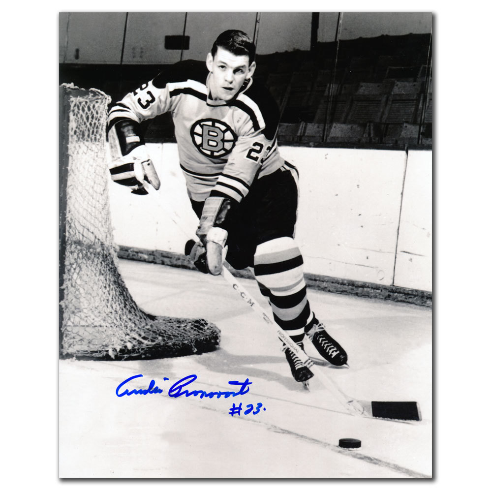 Andre Pronovost Boston Bruins Autographed 8x10