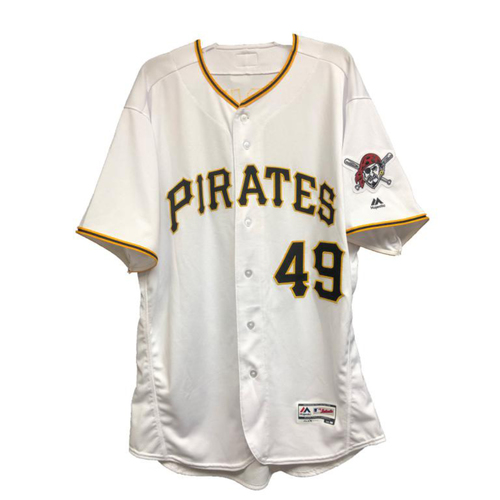 Photo of 2018 Game-Used Nick Kingham Home Jersey
