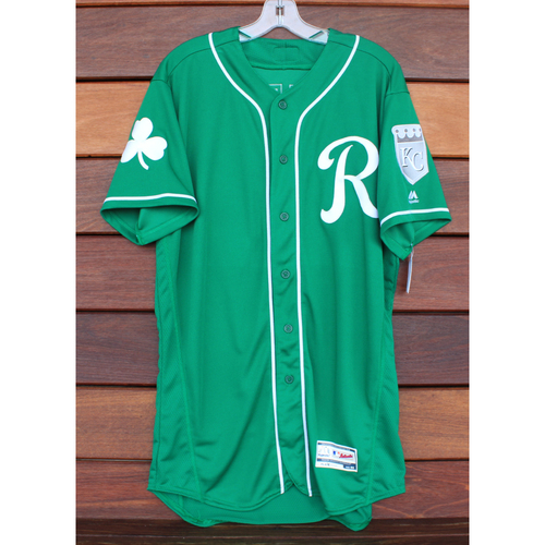 Photo of Team-Issued St. Patrick's Day Jersey: Conner Greene (Size - 44)
