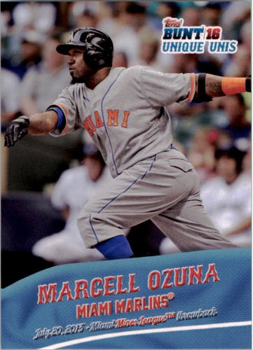 Photo of 2016 Topps Bunt Unique Unis #UU8 Marcell Ozuna