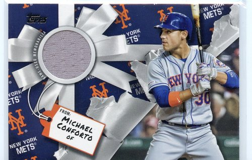 Photo of 2019 Topps Walmart Holiday Relics #WHRMCO Michael Conforto