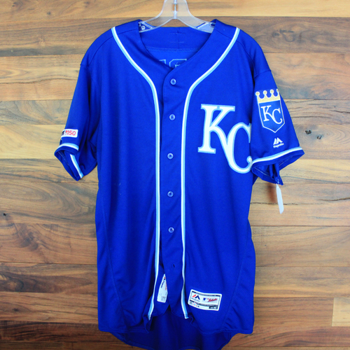 Photo of Game-Used Jersey: Nicky Lopez (Size 44 - KC @ CLE - 7/21/19)