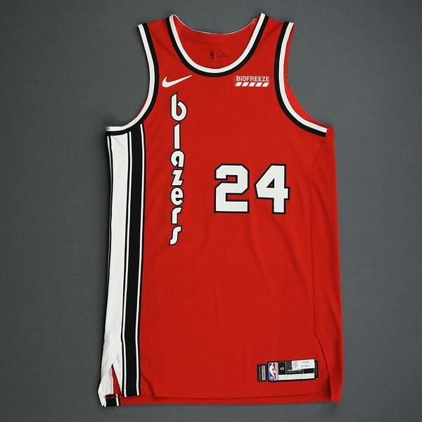 Image of Kent Bazemore - Portland Trail Blazers - Game-Worn Classic Edition 1975-77 Road Jersey - 2019-20 NBA Season