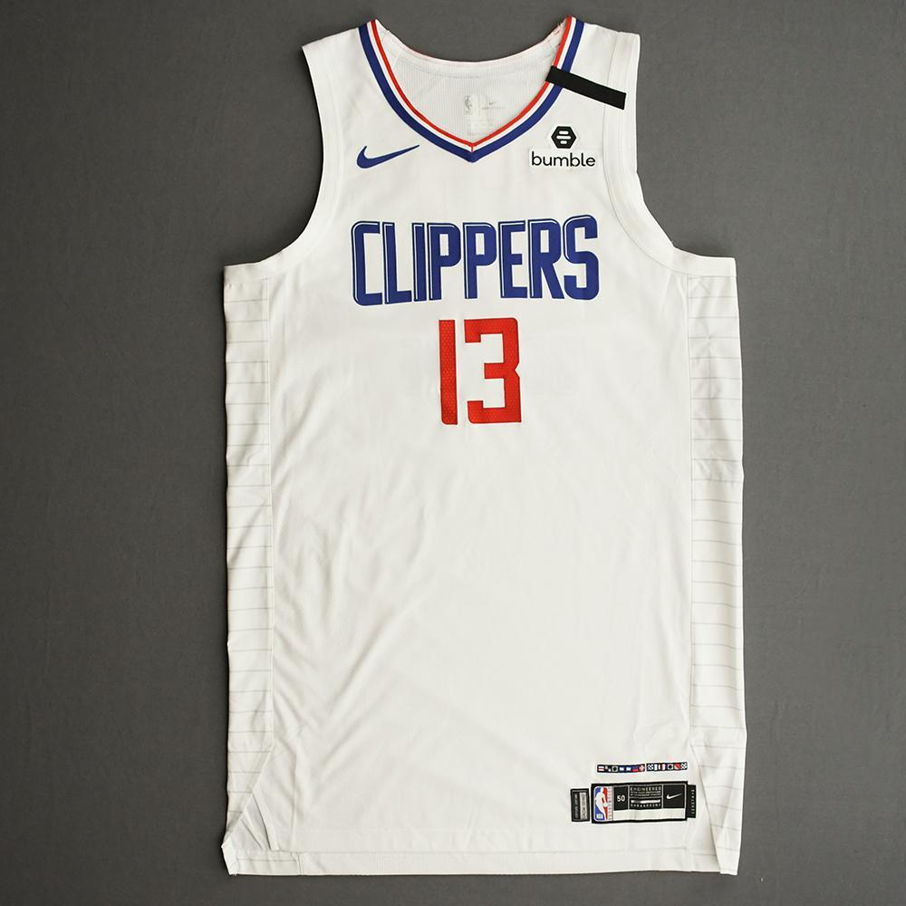 Paul George - Los Angeles Clippers - Game-Worn Association Edition Jersey - Worn 2 Games - Scored 30 and 28 Points - 2019-20 NBA Season Restart