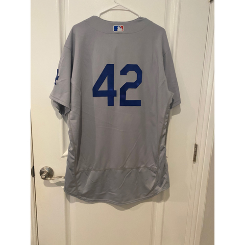 Photo of Mitchell White Authentic Game-Used Jersey from 8/28/20 Game @ TEX - Size  48