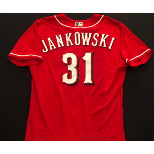 Photo of Travis Jankowski -- 2020 Spring Training Jersey -- Team-Issued -- Size 46