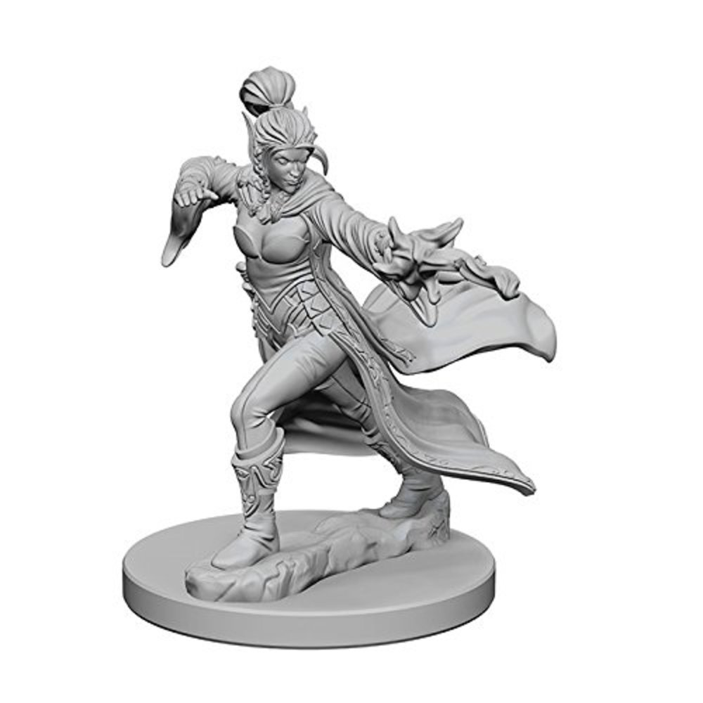 Photo of WizKids Pathfinder: Deep Cuts Unpainted Miniatures: Elf Female Sorcerer