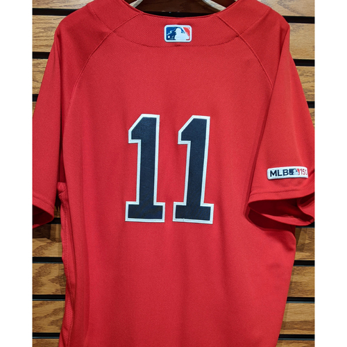 Photo of Rafael Devers #11 Game Used Red Home Alternate Jersey