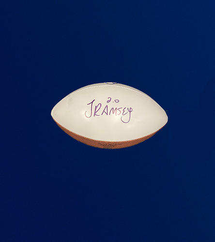 Photo of Jalen Ramsey Signed Panel Football