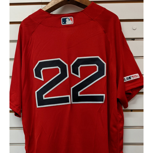 Photo of Rick Porcello #22 Team Issued Red Home Alternate Jersey