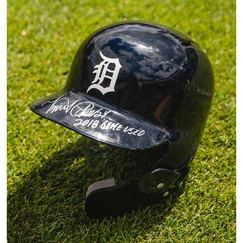 Cabrera Exclusive! Miguel Cabrera Detroit Tigers Game-Used 2018 Home Batting Helmet (MLB AUTHENTICATED)