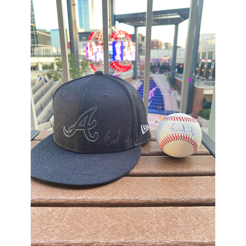 Photo of Ender Inciarte MLB Authenticated Autographed Hat and Baseball Combo