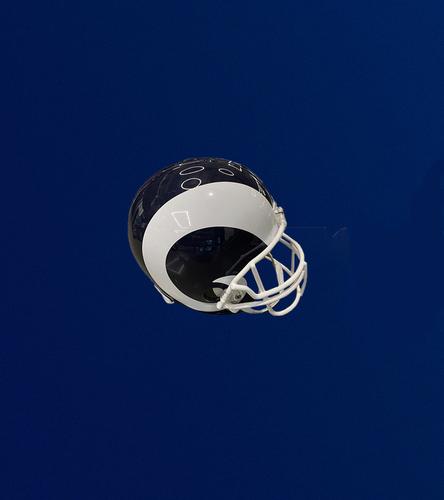 Photo of Navy and White Replica Rams Helmet