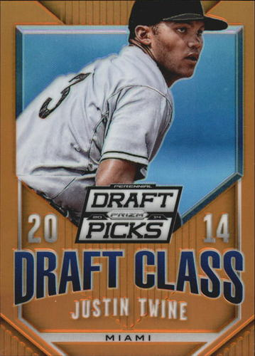Photo of 2014 Panini Prizm Perennial Draft Picks Draft Class Prizms Orange #41 Justin Twine