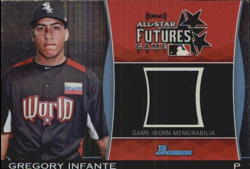 Photo of 2011 Bowman Draft Future's Game Relics #GI Gregory Infante