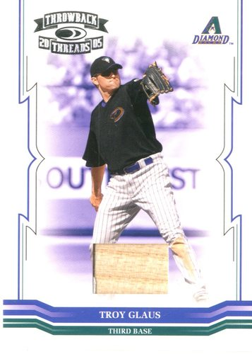 Photo of 2005 Throwback Threads Material Bat #82 Troy Glaus/250