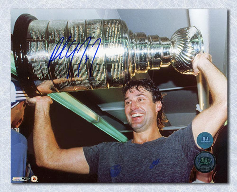 Paul Coffey Edmonton Oilers Autographed Stanley Cup 8x10 Photo