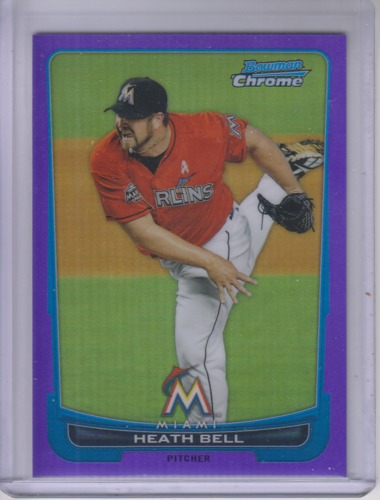 Photo of 2012 Bowman Chrome Purple Refractors #152 Heath Bell