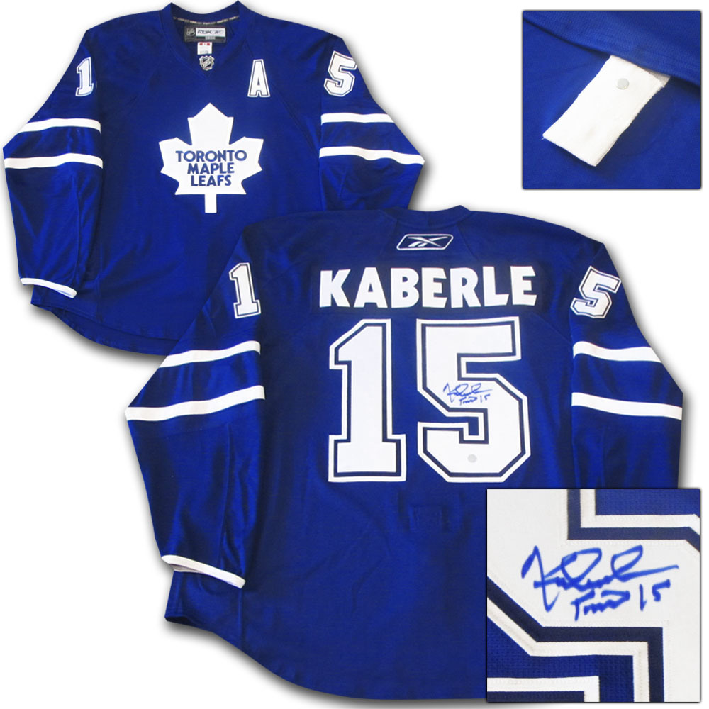 Tomas Kaberle Autographed Toronto Maple Leafs Authentic Pro Jersey