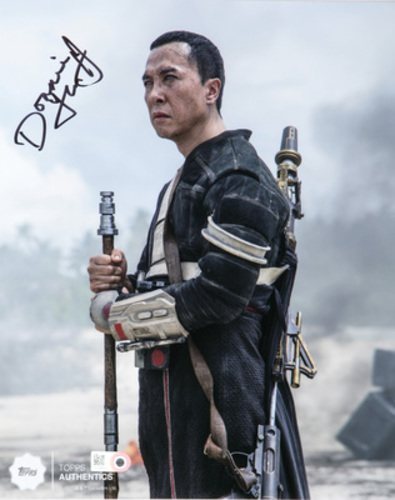 Donnie Yen as Chirrut Îmwe Autographed in Black Ink 8x10 Photo
