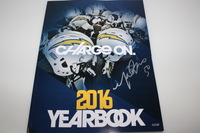 CHARGERS - MANTI TE'O SIGNED 2016 CHARGERS YEARBOOK