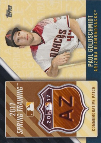Photo of 2017 Topps Spring Training Logo Patches Paul Goldschmidt