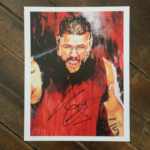Kevin Owens SIGNED 11 x 14 Rob Schamberger Print