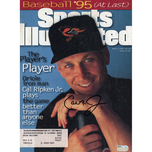 Photo of Cal Ripken Jr. Baltimore Orioles Autographed May 1, 1995 Sports Illustrated