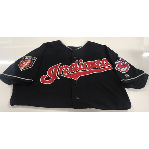 Photo of Abraham Almonte Game-Used 2018 Spring Training Jersey