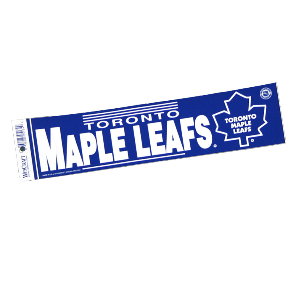 Vintage NHL TORONTO MAPLE LEAFS Bumper Sticker - Unused - NOS - NM - STYLE A