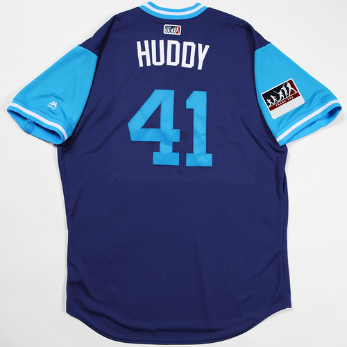 "Photo of Daniel ""Huddy"" Hudson Los Angeles Dodgers Team-Issued 2018 Players' Weekend Jersey"