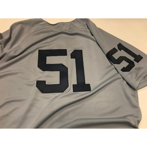 Photo of Team-Issued 1968 World Series 50th Anniversary Jersey: #51
