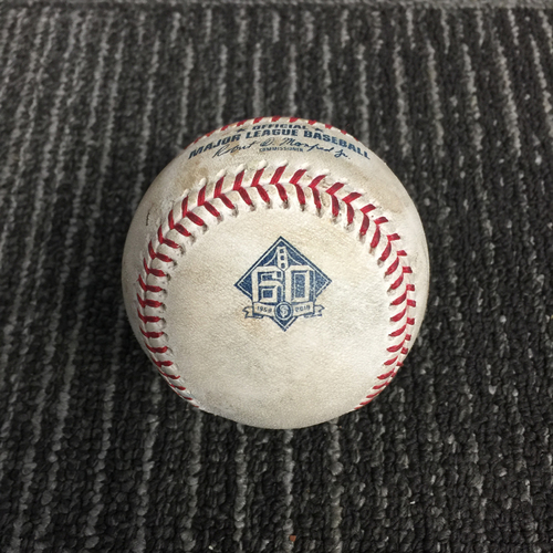 Photo of 2018 San Francisco Giants - Game Used Baseball vs. Los Angeles Dodgers on 9/30/18 - Hunter Pence Last Game as a Giant