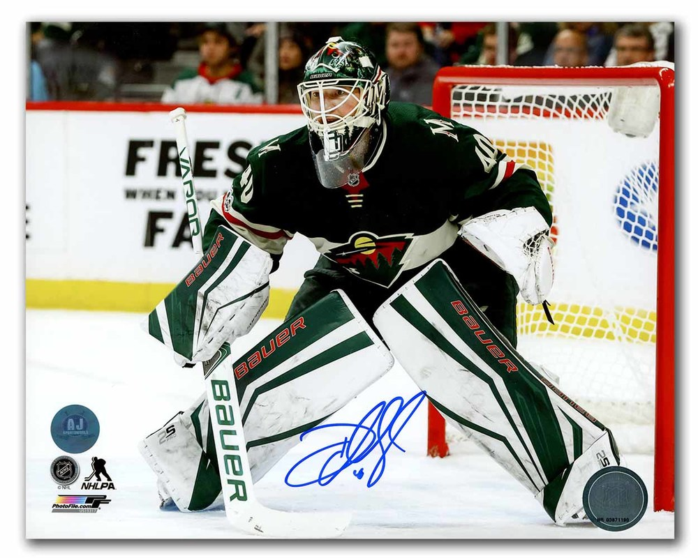Devan Dubnyk Minnesota Wild Autographed In Goal 8x10 Photo