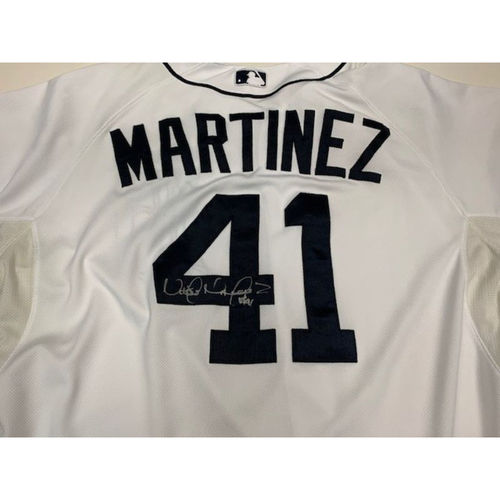 Photo of Autographed Team-Issued Jersey: Victor Martinez