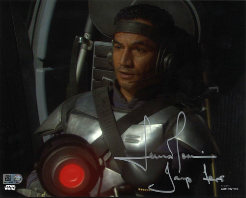 Temuera Morrison As Jango Fett 8X10 Autographed in Silver Ink Photo