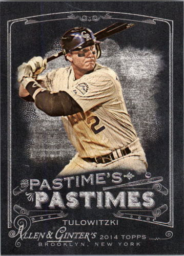 Photo of 2014 Topps Allen and Ginter The Pastime's Pastime #PPTT Troy Tulowitzki